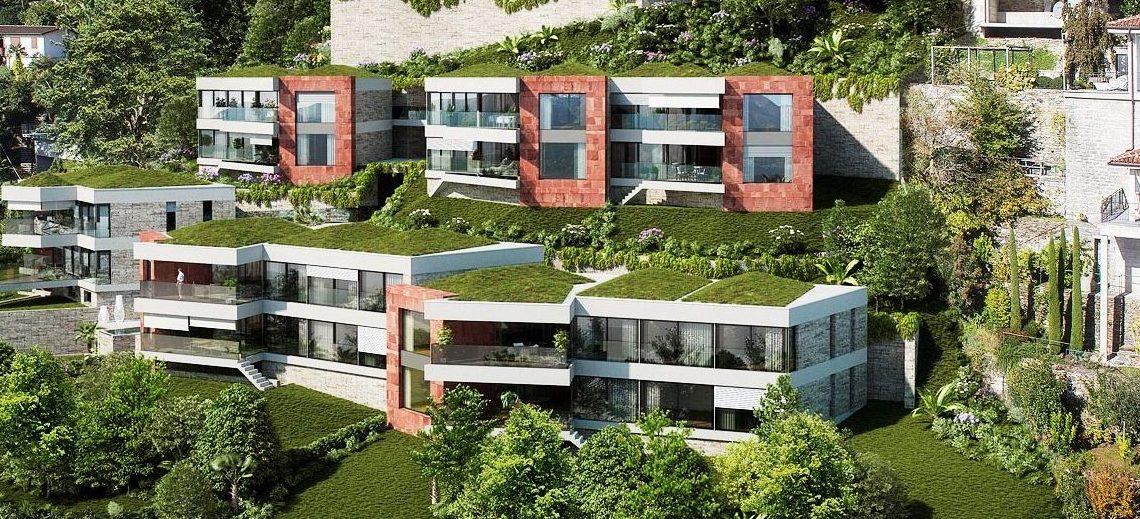 Luxuswohnungen in Roncos sopra Ascona, Onda Viva Aussenansicht - Ferienwohnungen in Ascona