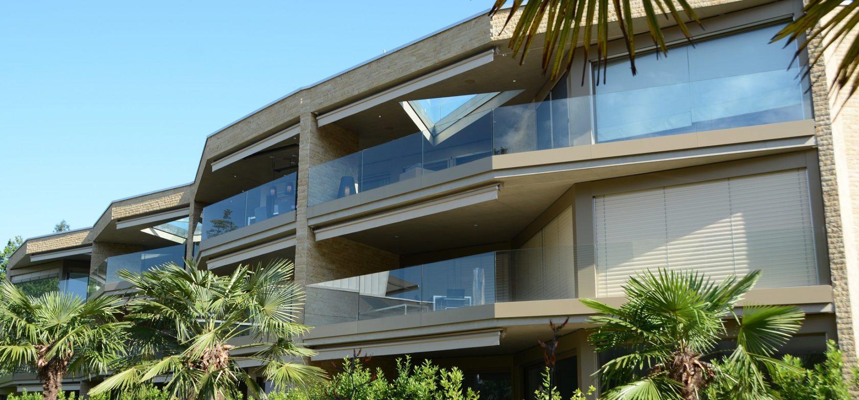 Luxuswohnungen in Ascona, EOS II Aussenansicht Front - exklusives Wohnen in Ascona, Eigentumswohnungen in Ascona