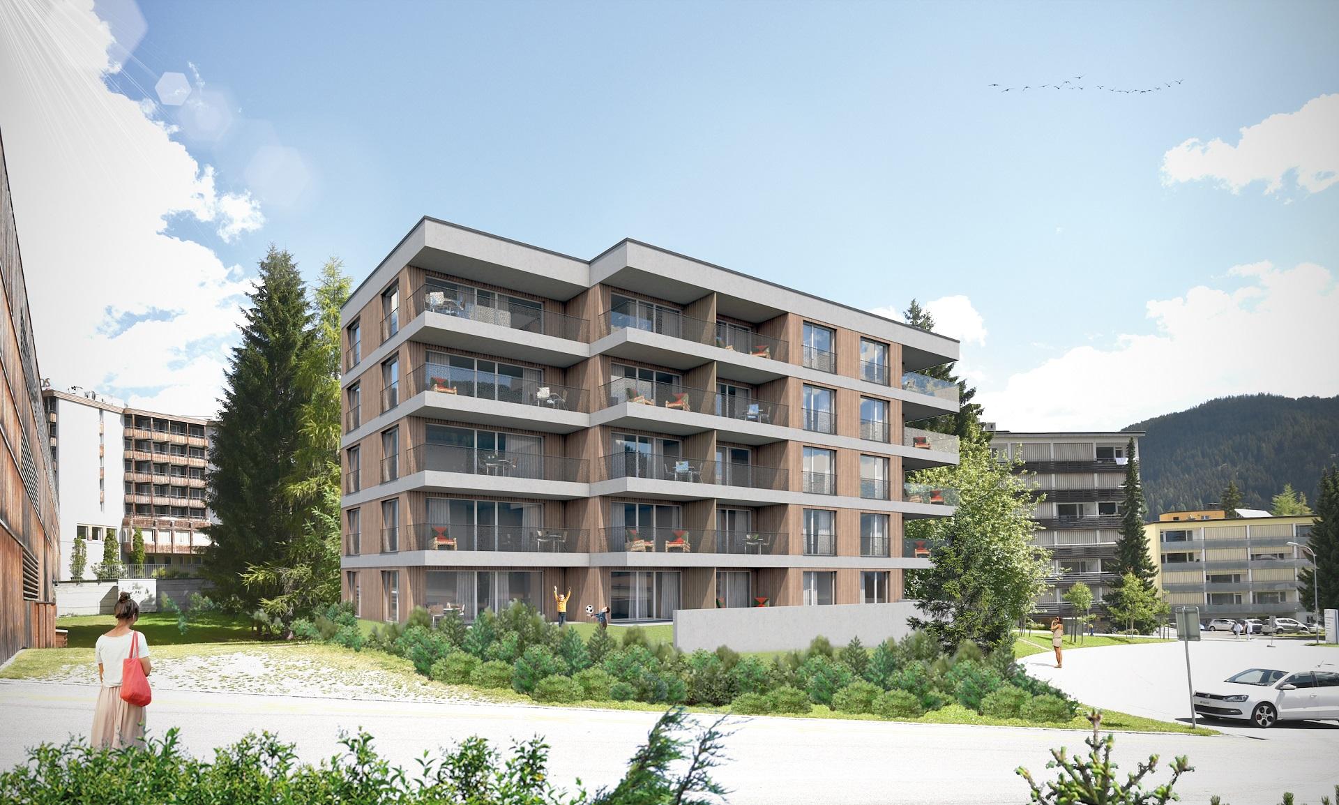 Neubau Personalhaus in Davos , Hertistrasse, Personalwohnungen ...