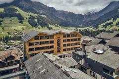 Hotel Revier & MFH Alpenrose Adelboden Luftaufnahme