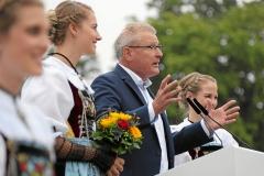 Zug 2019: Fahnenempfang in Zug - Heinz Taennler, OK-Praesident
